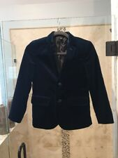 JCREW CREWCUTS LUDLOW BLAZER IN VELVET DARK PACIFIC BLUE Sz 10 NWT