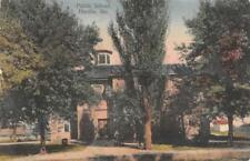 Public School, Hardin, Missouri 1911 Vintage Hand-Colored Postcard