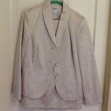 Liz Baker Ivory Mother of the Bride Formal Suit Stunning Understated! Size 10