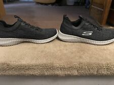 Skechers Black Wide Fit Shoe Men Comfort Slip On Casual Memory Foam bungee 52642