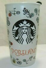 Starbucks 2016 Portland Bicycle Ceramic Travel Mug w/ Lid NICE