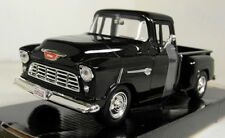 Motormax 1/24 Scale 1955 Chevy 5100 Stepside Pickup Black Diecast model car