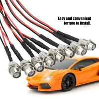 1:10 RC Model On-Road Drift Car LED Night 8pc 5mm headlamps headlights light ❤lo