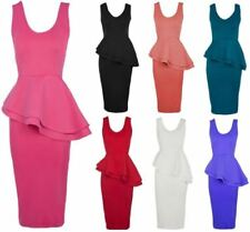 V-Neck Sleeveless Dresses for Women with Peplum