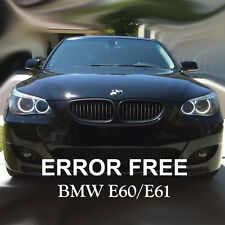 * BMW 5 SERIES E60 E61 PRE LCI XENON WHITE ANGEL EYE HALO RING LIGHT 501 t10 w5w