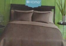3 pc HOME Chocolate Full / Queen Coverlet and Shams Set NWT
