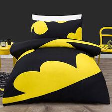 BATMAN LOGO SINGLE / US TWIN  bed QUILT DOONA DUVET COVER SET NEW