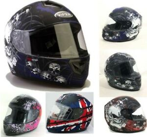NEW VIPER RS250 MOTORCYCLE MOTORBIKE SCOOTER FULL FACE ROAD CRASH LID HELMET