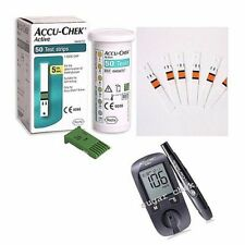 ACCU CHEK Active Test Strips Sheets 50 Diabetic Blood Medical Check Expire 09/19