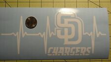 San Diego Chargers Life car decal