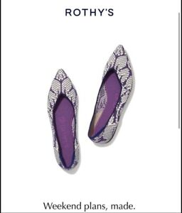 **STORE EXCLUSIVE** Rothy's Wisteria (Violet) Points, Size 8.5