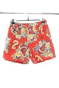 POLO RALPH LAUREN Red Hawaii Print Swim Shorts Size M