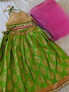 Indian pakistani Baby Toddler kids Outfit Lehenga Bollywood Eid Dress 2t-3t