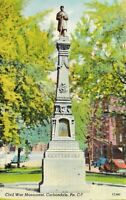 Civil War Monument Carbondale Pennsylvania PA Postcard