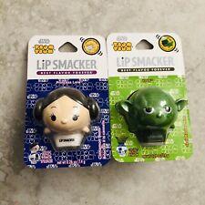 Star Wars Tsum Tsum Lip Balm Princess Leia Cinnamon Buns Flavor Yoda Mint Flavor