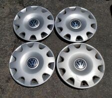 """Set of 4 OEM 1999-2002 VW Volkswagen Jetta 15"""" Hubcaps Wheel Covers 1J0601147N"""