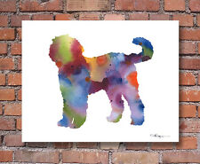 Goldendoodle Art Print 11 x 14 Contemporary Abstract Watercolor Wall Decor