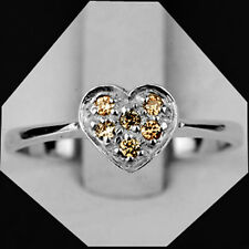 1.362gm size 4.5 NATURAL CHAMPAGNE DIAMOND 925 SILVER RING