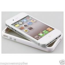 iphone 4 4G 4S Hard Protective Bumper Case -  White , 2-Tone White Color . NEW