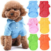 Pet Dog Cat Plain T Shirt Puppy Tees Clothes Apparel XS S M L XL  T-Shirt