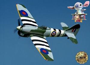 HAWKER TEMPEST TYPHOON RC MODEL AIRCRAFT Plane Warbird Like Spitfire W Safe Gyro