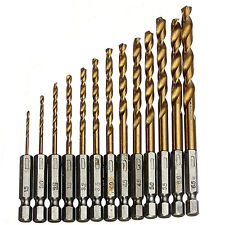 13pcs High-Speed Steel HSS Hexagonal Shank   1.5-6.5mm Bit Set Twist Drill Bit