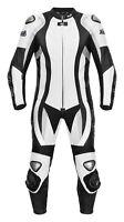 Neue, hochwertige Lederkombi Kurzgröße Einteiler schwarz weiß Leather Suit