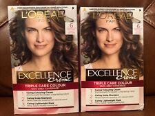 X2 Loreal Excellence Creme Natural Light Brown 6 Hair Dye. Free P&P 2 Packs