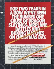 NINTENDO ENTERTAINMENT SYSTEM__Original 1988 Trade print AD / game promo__NES
