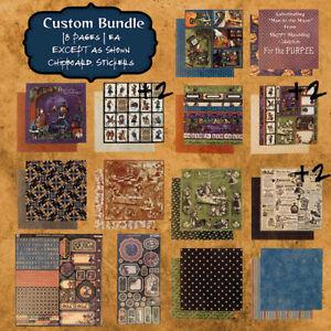 Graphic 45 Custom Bundle HALLOWEEN IN WONDERLAND Paper Stickers & Chipboard! NEW