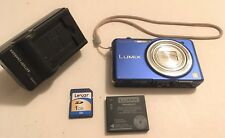 Panasonic Lumix DMC-SZ1 16.1 MP 10x Optical Zoom HD Point and Shoot Camera Blue)