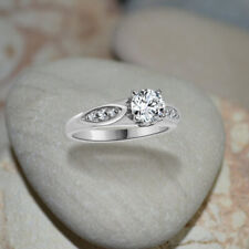 Vintage 10k White Real Gold 0.72 Ctw Diamond Halo Engagement Solitaire Ring 5 6