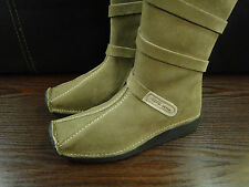 CAMEL ACTIVE 'SOHO' WOMENS SAND COLOUR ZIP SUEDE BOOTS UK SIZE 3