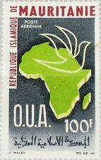 MAURITANIA MAURETANIEN 1966 276 C51 Map Africa Dove Org. for African Unity MNH