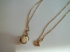 """gold filled necklace,cultured pearl pendant,great pre-own cnd,16""""long,"""
