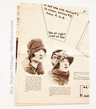RARE Western Felt Works 4 Different Cloche Hats Promotional Sewing Pattern 1920s
