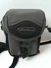 EDDIE BAUER CAMERA CASE Grey Padded w/ Strap Zipper Mesh Multiple Compartments