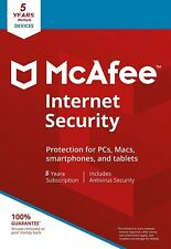 McAfee Internet Security 2019 Anti Virus Software 5 Years Licence 1 User /PC NEW