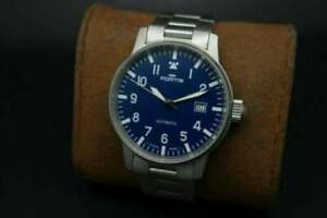 Vintage Fortis Flieger Pilot 25 Jewels Automatic Blue Dial Men's Watch.REFMQM09