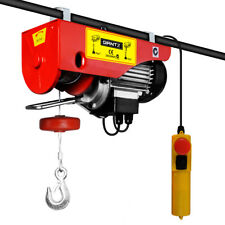 Electric Hoist Winch 400/800kg W Rope Remote Cable 18.5kg 1300W Lifting 240V New