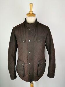 Q619 Barbour International Mens Speedometer Rustic Brown Wax Jacket, Large 40/42