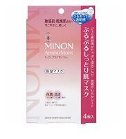 Minon Amino Moist Moisturizing Face Mask 4pc/pack x 22ml japan