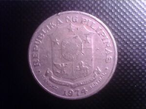 PHILIPPINES   1 PISO   1974  BIG  COIN    SEPT10