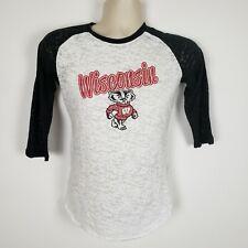 Womens University of Wisconsin Badgers 3/4 Sleeve Shirt Size Sm