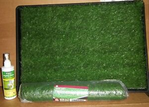 Tinkle Turf Puppy Training Pad for Small Dogs + Scent Spray & Extra Turf