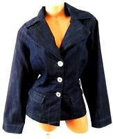 Baccini blue denim long sleeves plus pockets buttoned down jean blazer jacket 2X