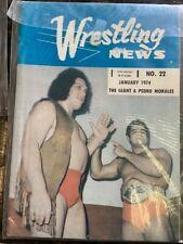"1970's  AWA WRESTLING NEWS 5 MAG LOT ""RARE"""