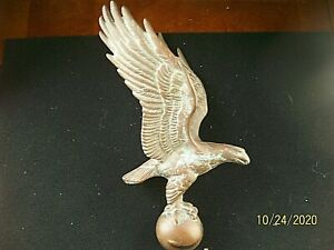 Vintage Bronze/Brass Eagle Finial/Topper w/Wings Raised & Spread /