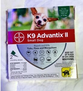 K9 Advantix II, Small Dogs (4-10lbs), 2 Pack, Damaged Packaging, US Sell/Ship