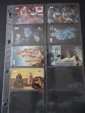 2001 EAST STORIES Set of 7 Different Phone Cards from Brazil